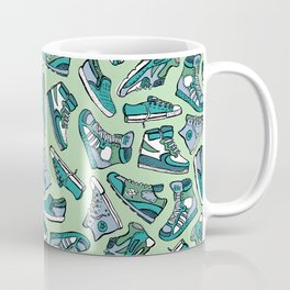 Sneaker Lover in Green Coffee Mug