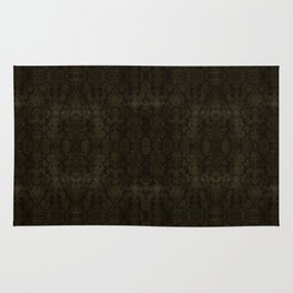 Medieval Antique Gold Damask Rug