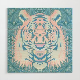 Pastel Quartz Tiger Wood Wall Art