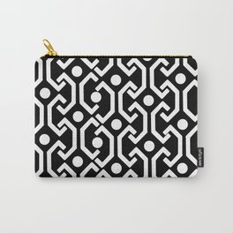 Ethnic Pattern (black) Carry-All Pouch