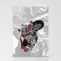motorbike Stationery Cards featuring MotorBike by tuncay cavdar