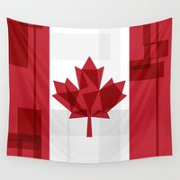 canada Wall Tapestries featuring O Canada by Fimbis