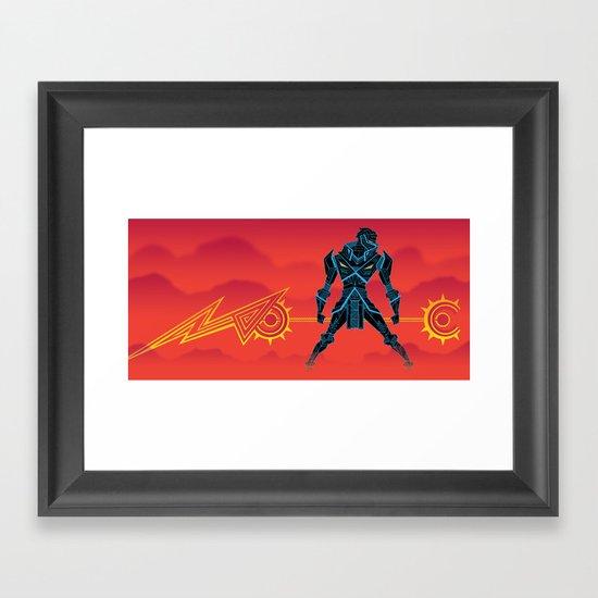 VEKTOR KNIGHT Framed Art Print