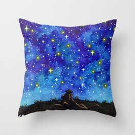 Look at the Stars Throw Pillow