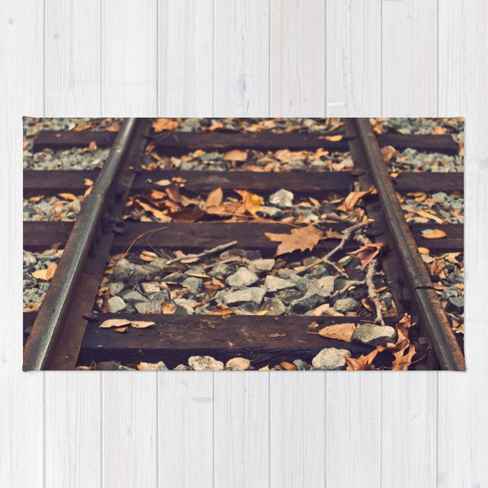Railroad Track Rug