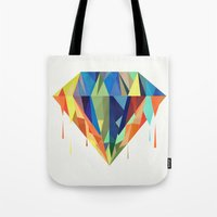diamond Tote Bags featuring Diamond by By Nordic
