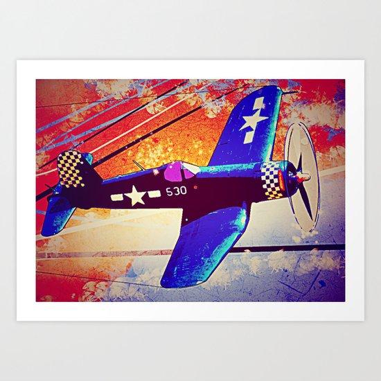 F4U Corsair Pop Art Art Print