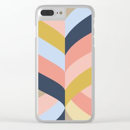 SUNSET MINIMAL STRIPES Clear iPhone Case