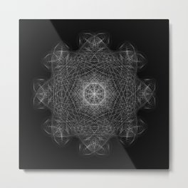 Cosmic Cymatics Mandala Metal Print