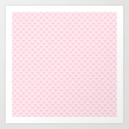 Large Light Soft Pastel Pink Love Hearts Art Print