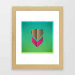 Music in Monogeometry : The Head and the Heart Framed Art Print