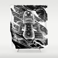 totem Shower Curtains featuring Totem by A P Schofield fine arts