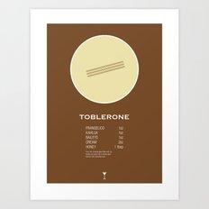 Toblerone Cocktail Recipe Poster (Imperial) Art Print
