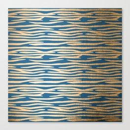 Zebra - Orange Sherbet Shimmer on Saltwater Taffy Teal Canvas Print