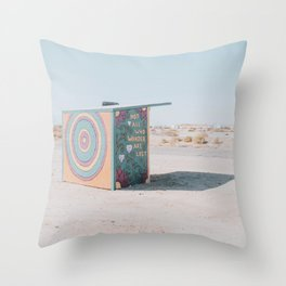Not All Who Wander Are Lost / Slab City, California Throw Pillow