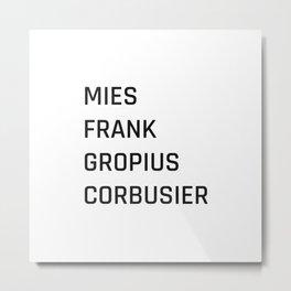 Modern Architecture (White) Metal Print