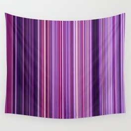 Pink Purple Stripes Wall Tapestry