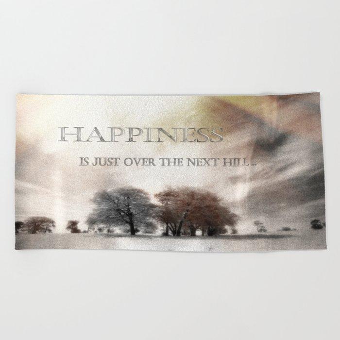 Happiness Beach Towel
