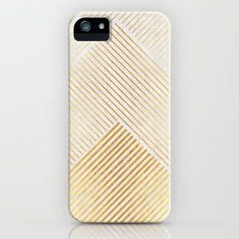 Minimalist and golden mountains iPhone Case