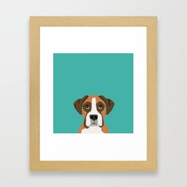 Boxer head dog breed gifts cute pupper Boxers must haves Framed Art Print