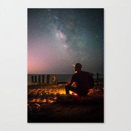 Guitar Milky Way Galaxy Canvas Print