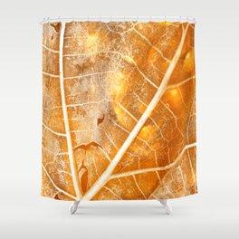 Burning Bokeh Leaf Shower Curtain