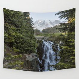 Mount Rainier and Myrtle Falls, Late Afternoon Wall Tapestry