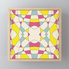 Pink Blue Yellow Abstract Curch Window Framed Mini Art Print