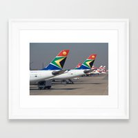 aviation Framed Art Prints featuring African Aviation by William Whaley