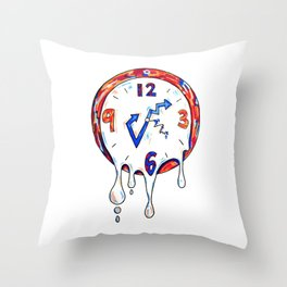 TIME IS MELTING Throw Pillow