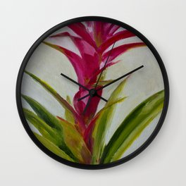 Bromeliad - Native plant Wall Clock