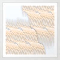Waves nuances artwork Art Print
