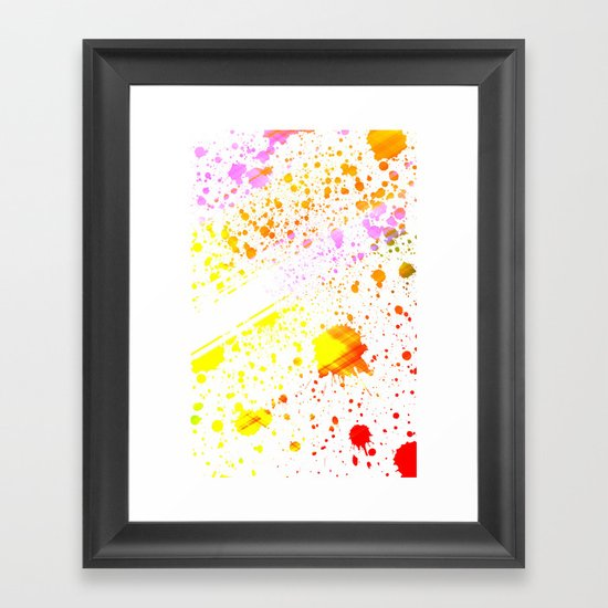 Splatter2 Framed Art Print