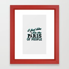The Paris Of People - Brooklyn Nine-Nine Framed Art Print
