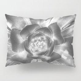 A Spiral of an Opening Succulent Pillow Sham