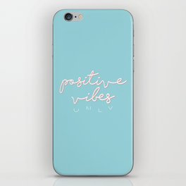 POSITIVE VIBES ONLY - BLUE iPhone Skin