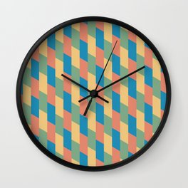 Pastel Parallelograms Wall Clock