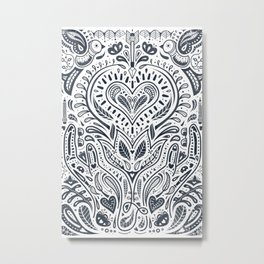 Folklore Pattern 3 Metal Print