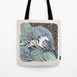 White Gallop Tote Bag