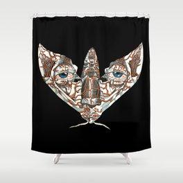 Face Mimic Moth Shower Curtain