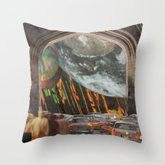 We're All Just Passing Through Throw Pillow