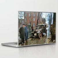 washington Laptop & iPad Skins featuring Rainy Day, Washington, D.C. by Brown Eyed Lady