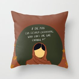 One Girl Can Change It Throw Pillow