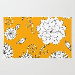 Sunny Crazy Daisy pattern Rug