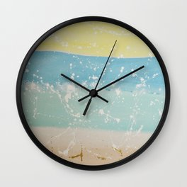 Abstract Beach Sunset Wall Clock