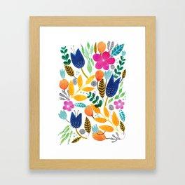Flower Mayhem Framed Art Print