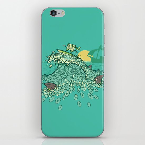 Surfin' Soundwaves iPhone & iPod Skin