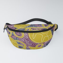 Night Leaf Topography Fanny Pack