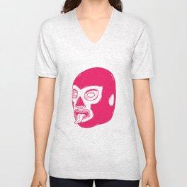 Pink Luchador Unisex V-Neck