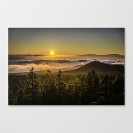 Sunset at 1800m Canvas Print